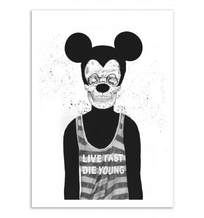 Art-Poster - Dead Mouse - Balazs Solti