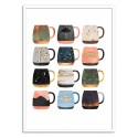 Art-Poster - Coffee Cup Collection Part.2 - Elisabeth Fredriksson