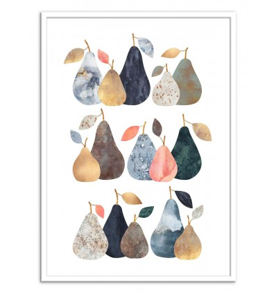 Art-Poster - Pears - Elisabeth Fredriksson