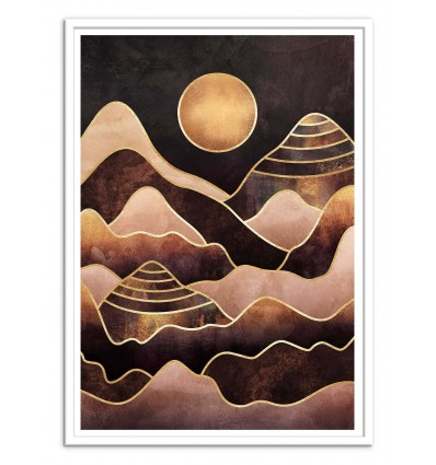 Art-Poster - Sunkissed Mountains - Elisabeth Fredriksson