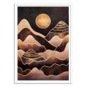 Art-Poster - Sunkissed Mountains - Elisabeth Fredriksson