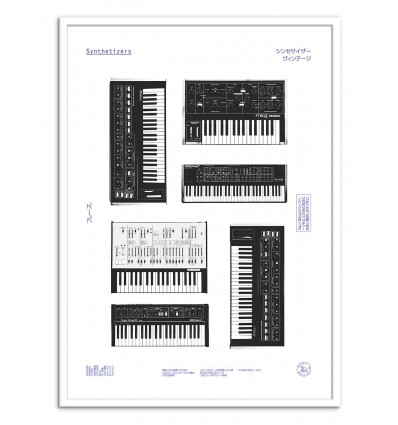Art-Poster - Synths - Florent Bodart