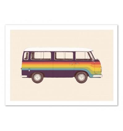 Art-Poster - Van Rainbow - Florent Bodart