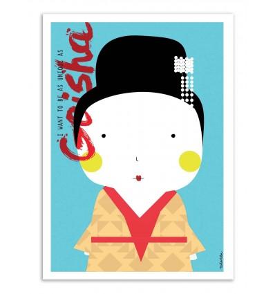 Art-Poster - Geisha - Ninasilla