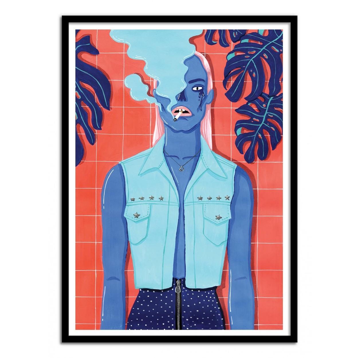 affiche d'art poster illustration street-art cartoon portrait hipster