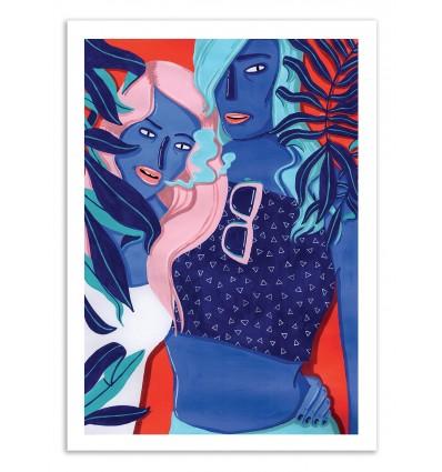 Art-Poster - Meet at the pool 1 - Sarah Matuszewski