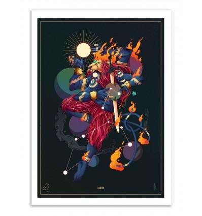 Art-Poster - Leo Zodiac Sign - MUTE