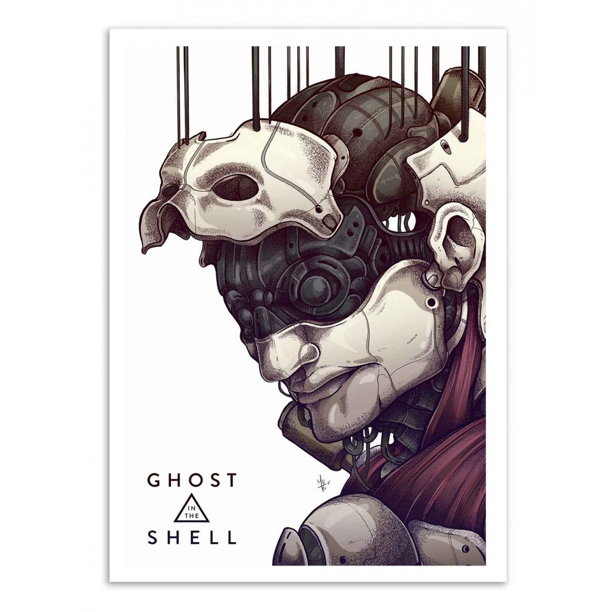 Art Poster Pop Japanese Ghost In The Shell By Mute