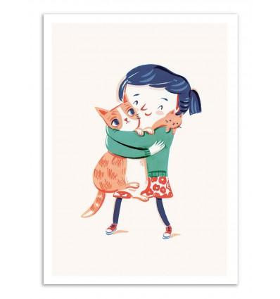 Art-Poster - Me and my cats - Anickanita
