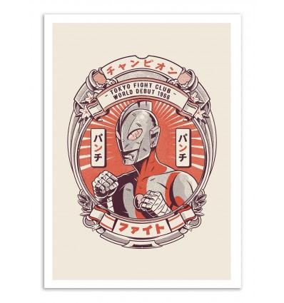 Art-Poster - Tokusatsu Street Fight - Ilustrata