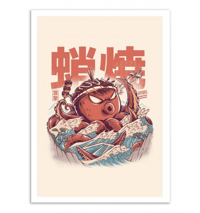 Art-Poster - Takoyaki Attack - Ilustrata