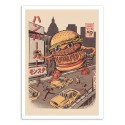 Art-Poster - Burgerzilla - Ilustrata
