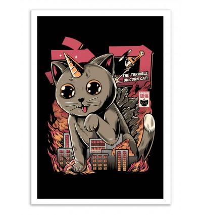 Art-Poster - Catzilla - Ilustrata