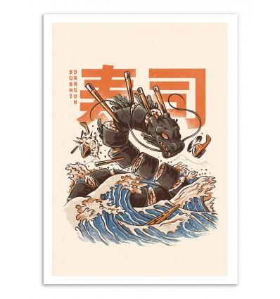 Art-Poster - Great Sushi Dragon - Ilustrata