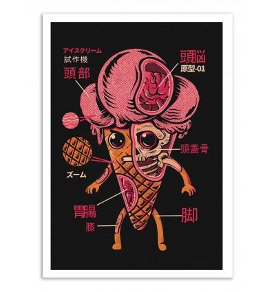 Art-Poster - Ice cream Kaiju - Ilustrata