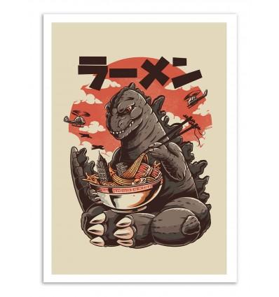 Art-Poster - Kaiju's Ramen - Ilustrata