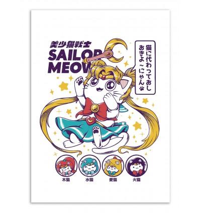Art-Poster - Sailor Meow - Ilustrata