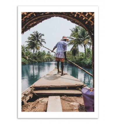 Art-Poster - India Boat - Luke Gram