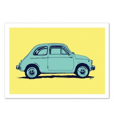 Art-Poster - Pop Fiat 500 - Giuseppe Cristiano