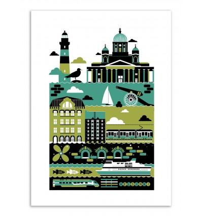 Art-Poster - Edition 50 ex. - Helsinki - Koivo