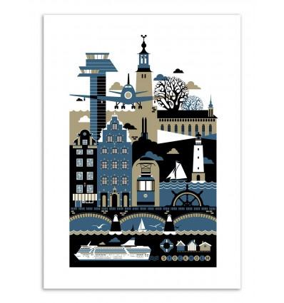 Art-Poster - Edition 50 ex. - Stockholm - Koivo
