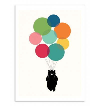 Art-Poster - Happy landing  - Andy Westface