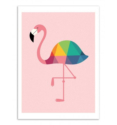 Art-Poster - Rainbow flamingo - Andy Westface