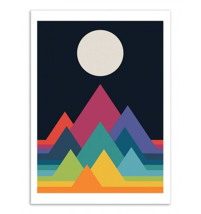 Art-Poster - Whimsical Mountains  - Andy Westface