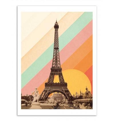Art-Poster - Eiffel Tower Rainbow - Florent Bodart