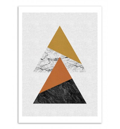 Art-Poster - Geometric Triangles - Orara Studio