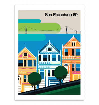 Art-Poster - San Francisco 69 - Bo Lundberg