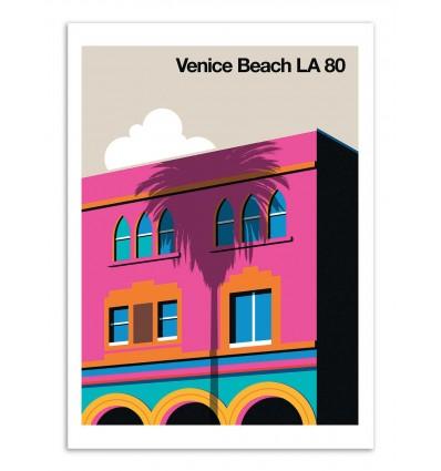 Art-Poster - Venice Beach LA 80 - Bo Lundberg