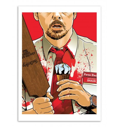 Art-Poster - Shaun of the dead - Joshua Budich