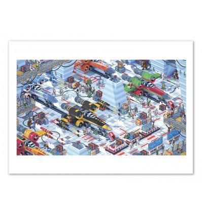 Art-Poster - Hoth Star Wars 3D Isometric - Bigo