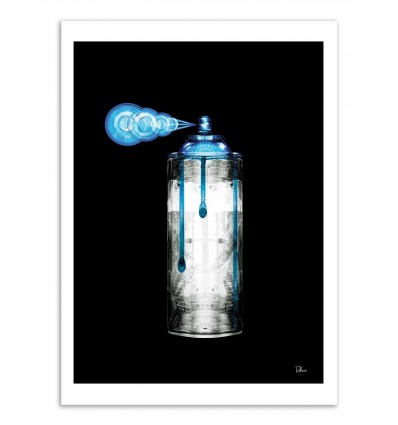 Art-Poster - Blue spray paint can - Rubiant