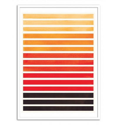 Art-Poster - Orange horizontal stripes - Ejaaz Haniff