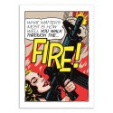 Art-Poster 50 x 70 cm - Walk through the fire - Butcher Billy