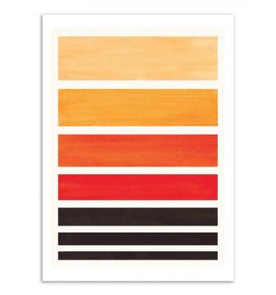 Art-Poster - Orange Staggered stripes - Ejaaz Haniff