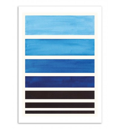 Art-Poster - Prussian Blue Staggered stripes - Ejaaz Haniff