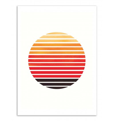 Art-Poster - Orange stripes sunset - Ejaaz Haniff
