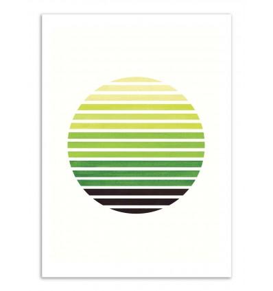 Art-Poster - Sap green stripes sunset - Ejaaz Haniff