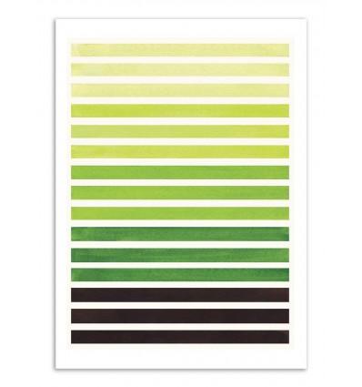Art-Poster - Sap green horizontal stripes - Ejaaz Haniff