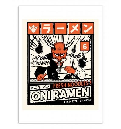 Art-Poster - Oni Ramen - Paiheme studio