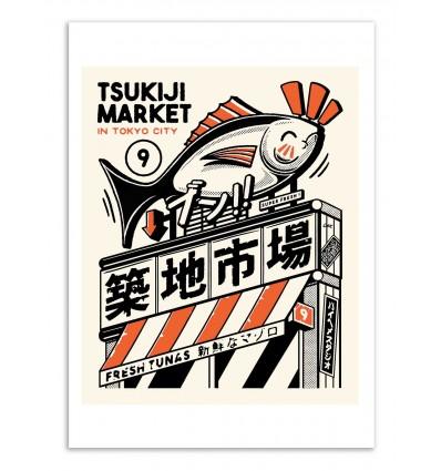 Art-Poster - Tsukiji Market - Paiheme studio