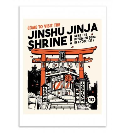 Art-Poster - Jinshu Jinja Shrine - Paiheme studio