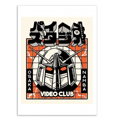 Art-Poster - The Video club - Paiheme studio