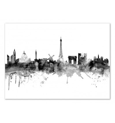 Art-Poster - Paris France Skyline - Michael Tompsett