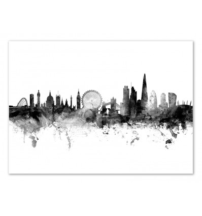 Art-Poster - London England Skyline - Michael Tompsett