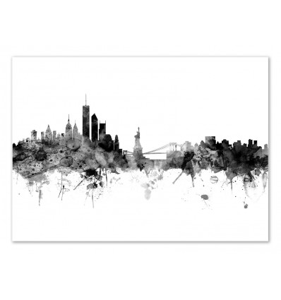 Art-Poster - New-York Skyline - Michael Tompsett