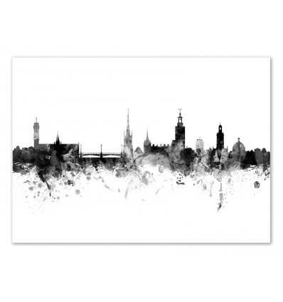 Art-Poster - Stockholm Sweden Skyline - Michael Tompsett